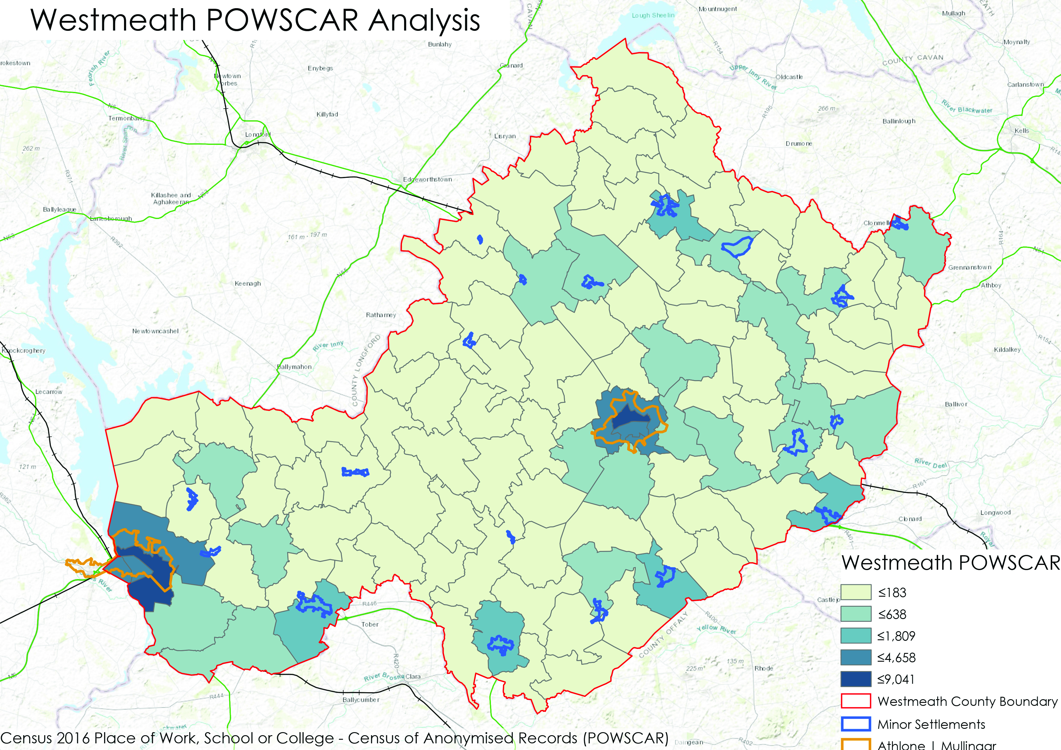 Figure 5.6 Westmeath Powscar Analysis of commuting